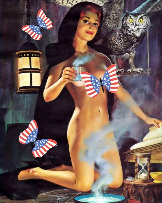 Patriotic Pinup Ren Wicks Witch