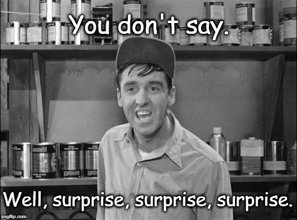 surprise surprise surprise
