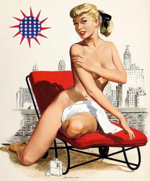 Ren Wicks Patriotic Pinup