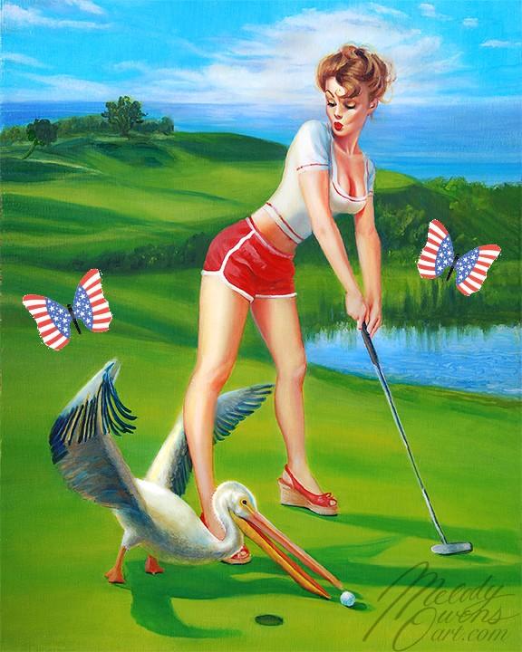 Patriotic Pinup Melody Owens