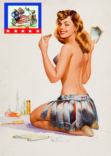 Patriotic Pinup Ted Withers