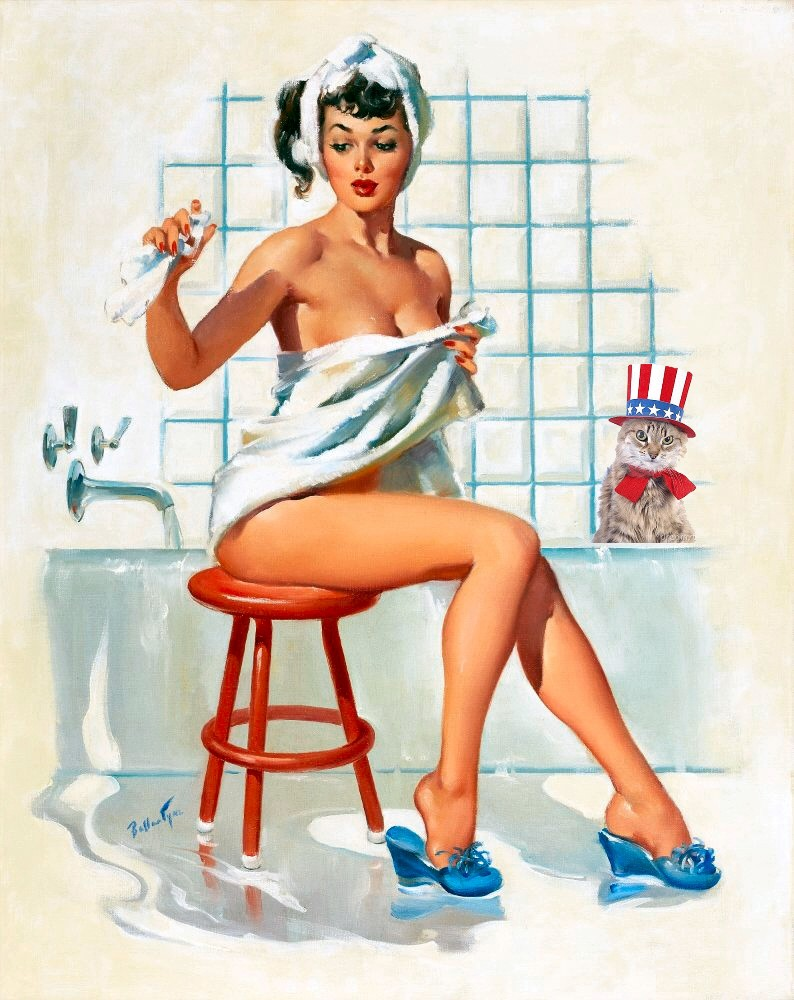Patriotic Pinup Joyce Ballantyne Bath